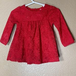 Nannette Baby red lace dress